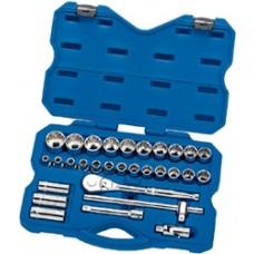 "DRAPER Expert 30 Piece 1/2"" Sq. Dr. Metric Socket Set"