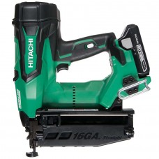 HITACHI NT1865DBSL/JX 16 GA BRUSHLESS STRAIGHT FINISH NAILER 2 X 3.0AH BATTERIES