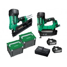 HITACHI 1ST & 2ND FIX 18V BRUSHLESS NAILER  - 2 PIECE COMBINATION PACK