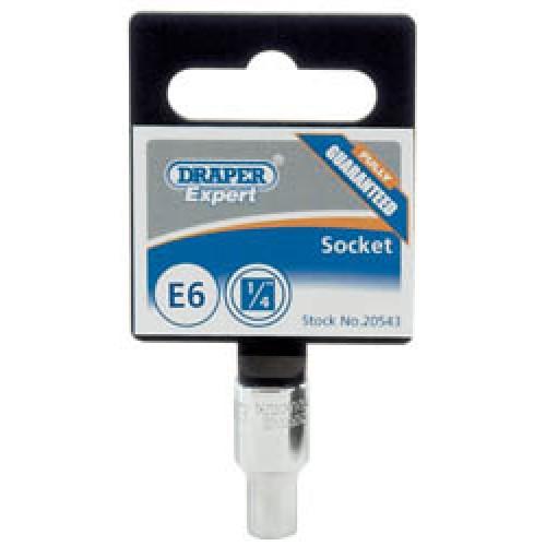 """E5 Draper Expert Quality 1//4/"""" Square Drive TX-Star Socket"""