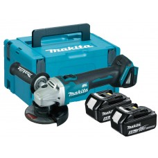 Makita DGA456RTJ  Brushless 18V  Angle Grinder 2 X 5ah Batteries In Makpak Case