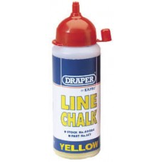 DRAPER 115G Plastic Bottle of Yellow Chalk for Chalk Line