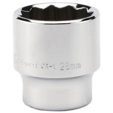 "DRAPER Expert 28mm 1/2"" Square Drive Hi-Torq  12 Point Socket"