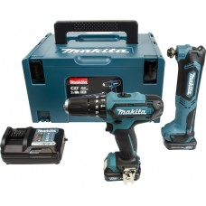 MAKITA CLX203AJX1 10.8V 2 X 2.0AH COMBI DRILL-MULTI TOOL KIT.