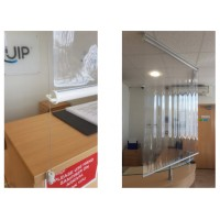 Retractable Workstation Divider 1300mm Wide (Social Distancing)