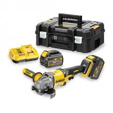 DEWALT DCG414T2 BRUSHLESS XR FLEXVOLT 125MM GRINDER 2 X 54V 6.0AH BATTS