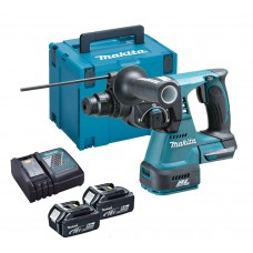 MAKITA DHR242RTJ BRUSHLESS 18V SDS ROTARY HAMMER  2 x 5AH BATTERIES IN MAKPAK CASE
