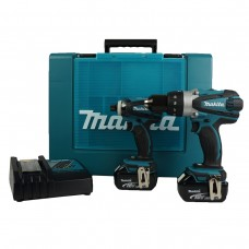 Makita DLX2005 18V Cordless Li-Ion Kit with 2 x 3Ah Batteries (2 Pieces)