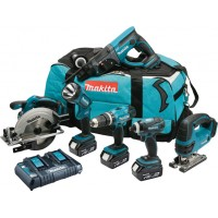 Makita DLX6017PM 18v 4.0AH 6 Piece Kit
