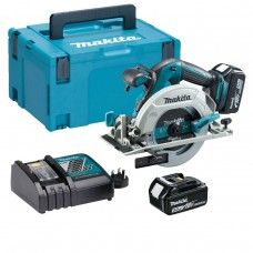 Makita DHS680RTJ 18V Brushless Circular Saw 2 x 5ah Batteries In Makpak Case