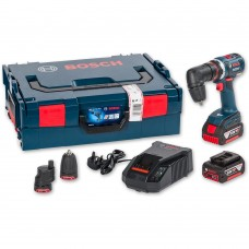 BOSCH GSR 18 V-EC FC2 18V 2 X 4.0AH FLEXI CLICK DRILL C/W 4 ATTACHMENTS