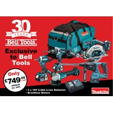 Makita 18V 5.0ah  5 Piece Brushless 30th Anniversary Kit