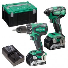 HITACHI KC18DBFL2/JA 18V BRUSHLESS COMBI + IMPACT 2 X 5.0AH BATTERIES