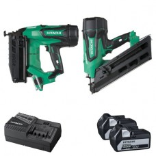 HITACHI KTN218S 1ST & 2ND FIX 18V 5.0AH BRUSHLESS NAILER  - 2 PIECE COMBINATION PACK