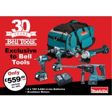 Makita 18v Brushless 5.0ah 4 Piece Kit