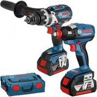 BOSCH GSB 18V-85C COMBI + GDX 18 VEC IMPACT DRIVER/WRENCH BRUSHLESS TWIN KIT INC 2 X 5.0AH BATTS