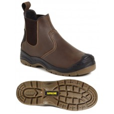 Safety Boot - Apache Brown Dealer Boot