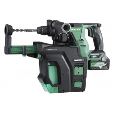HIKOKI DH36DPB 36V MULTI-VOLT BRUSHLESS SDS ROTARY HAMMER WITH DUST COLLECTION C/W 2 X 2.5AH BATTS