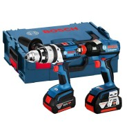Bosch GSB 18VE-2LI + GDX 18V-EC 18v Twin Combi Drill and Impact Kit 2 x 4.0ah Li-ion