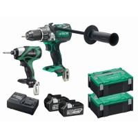 18V 6.0AH PREMIUM BRUSHLESS TWIN PACK - COMBI DRILL & IMPACT DRIVER