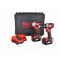 Milwaukee M18BPP2C-402C 18V Li-Ion Cordless Compact Twin Pack 2 x 4.0Ah
