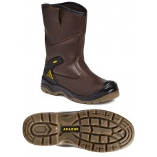 Safety Boot - Apache Brown Rigger Boot